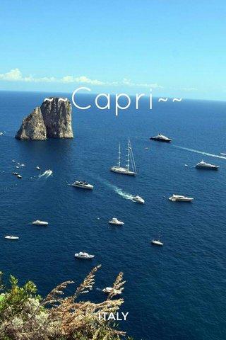 ~~Capri~~ ITALY