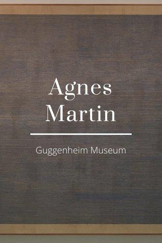 Agnes Martin Guggenheim Museum