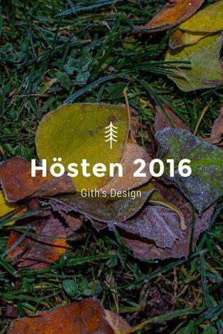 Hösten 2016 Gith's Design