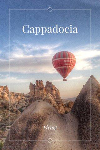 Cappadocia - Flying -