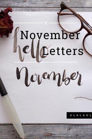 November Letters