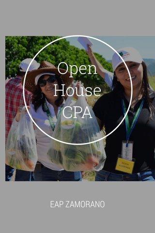 Open House CPA EAP ZAMORANO