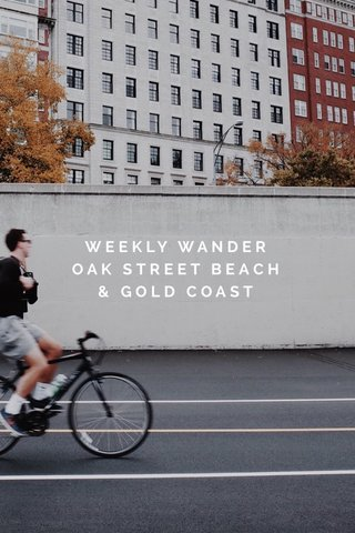WEEKLY WANDER OAK STREET BEACH & GOLD COAST