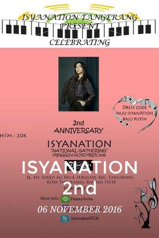 ISYANATION 2nd 06 NOVEMBER 2016