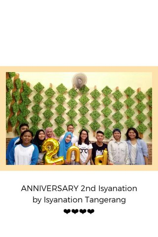 ANNIVERSARY 2nd Isyanation by Isyanation Tangerang ❤❤❤❤