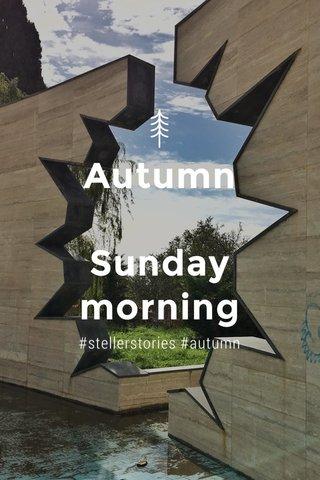 Autumn Sunday morning #stellerstories #autumn