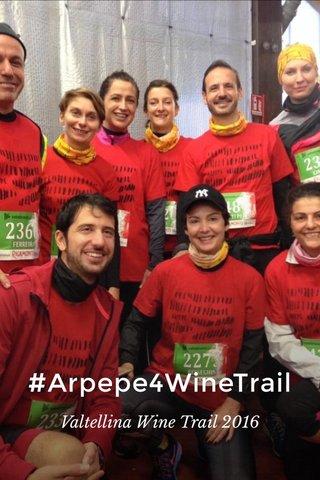 #Arpepe4WineTrail Valtellina Wine Trail 2016