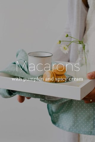 Macarons with pumpkin and spicy cream