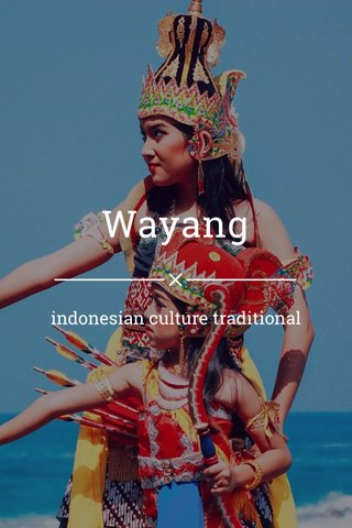 Wayang indonesian culture traditional