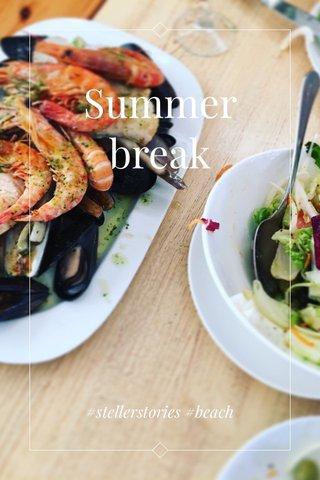 Summer break #stellerstories #beach
