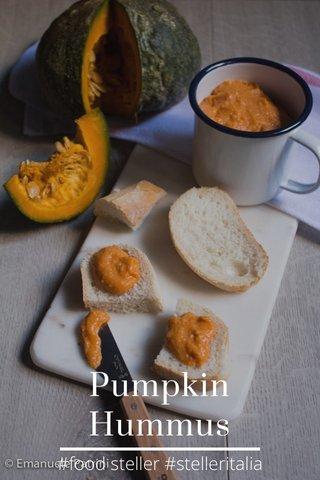 Pumpkin Hummus #food steller #stelleritalia