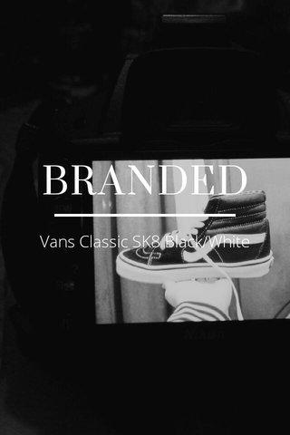 BRANDED Vans Classic SK8 Black/White