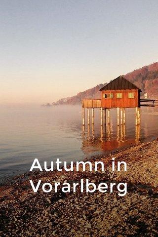 Autumn in Vorarlberg