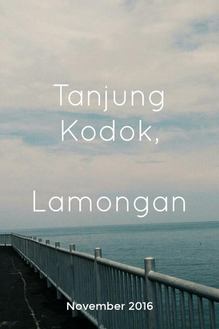 Tanjung Kodok, Lamongan November 2016
