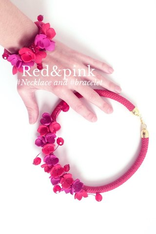Red&pink #Necklace and #bracelet