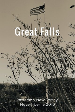 Great Falls Patterson New Jersey, November 13 2016