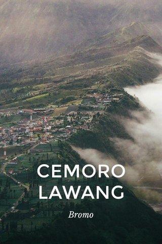 CEMORO LAWANG Bromo