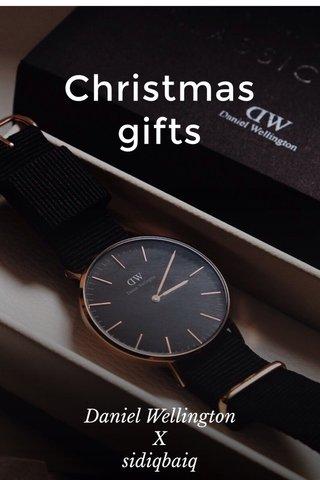 Christmas gifts Daniel Wellington X sidiqbaiq