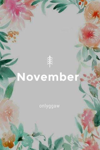 November onlyggaw