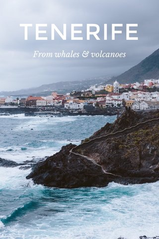 TENERIFE From whales & volcanoes