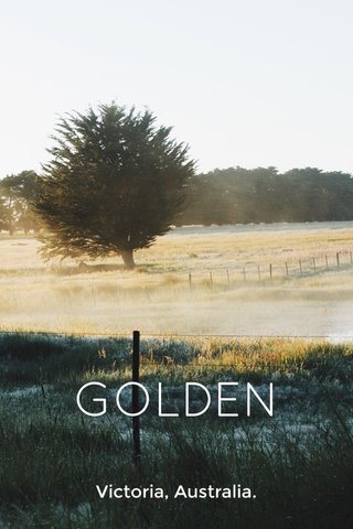 GOLDEN Victoria, Australia.