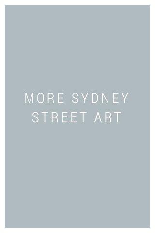 MORE SYDNEY STREET ART