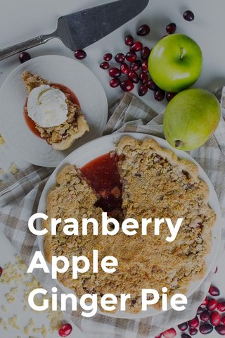 Cranberry Apple Ginger Pie