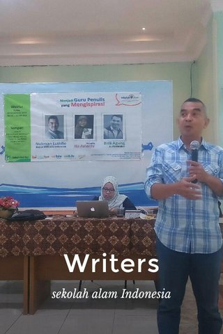 Writers sekolah alam Indonesia