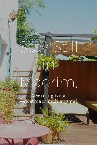 Stay Still in Maerim, A Writing Nest @nestmaerimchiangmai
