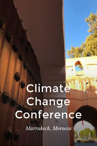 Climate Change Conference Marrakech, Morocco