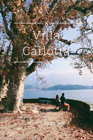 Villa Carlotta autumn on the lake