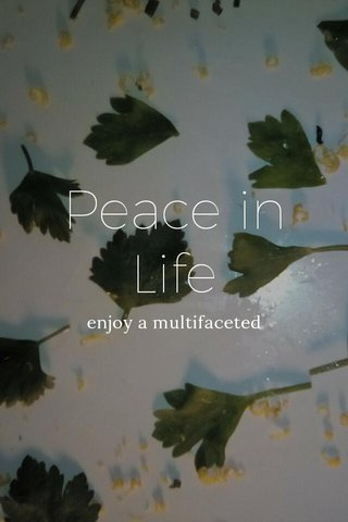 Peace in Life enjoy a multifaceted
