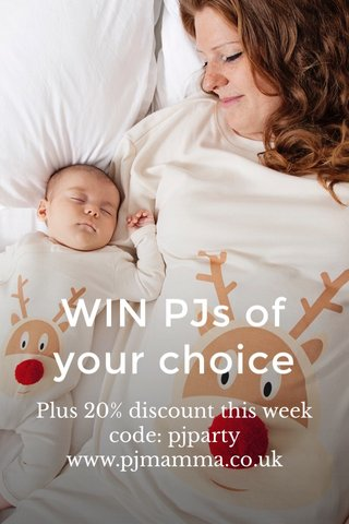 WIN PJs of your choice Plus 20% discount this week code: pjparty www.pjmamma.co.uk