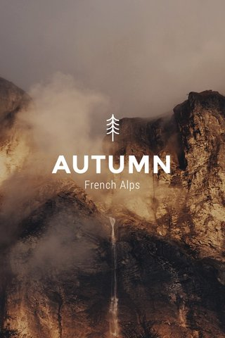 AUTUMN French Alps