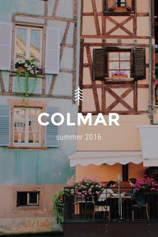 COLMAR summer 2016