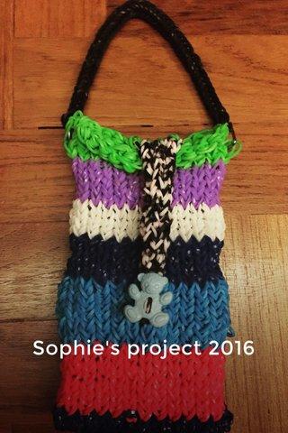 Sophie's project 2016