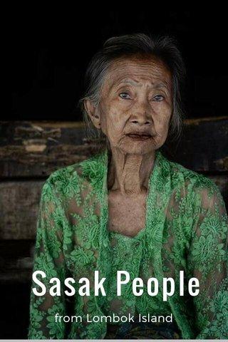 Sasak People from Lombok Island