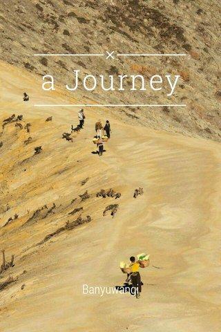 a Journey Banyuwangi