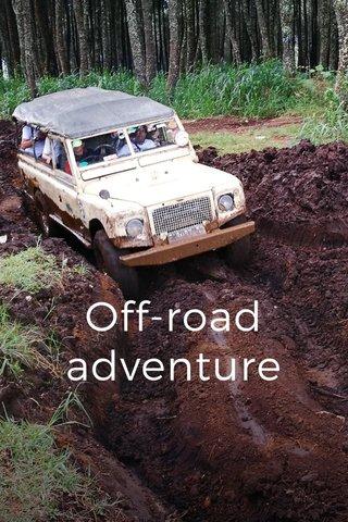Off-road adventure at Cikole, West Java