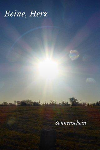 Beine, Herz Sonnenschein