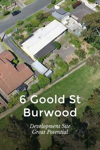 6 Goold St Burwood Development Site Great Potential