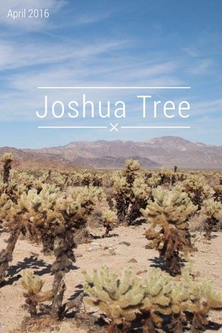 Joshua Tree April 2016