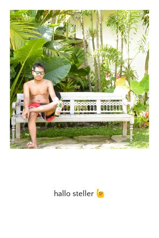 hallo steller 🙋