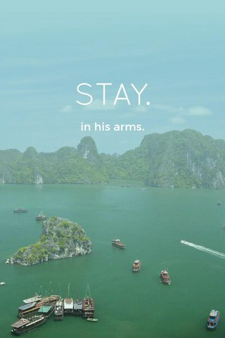 STAY. in his arms.