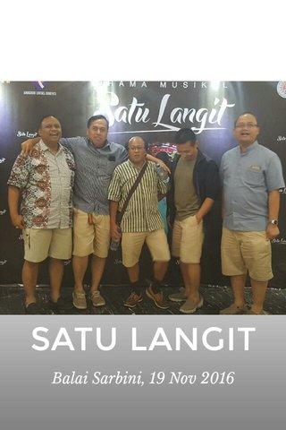 SATU LANGIT Balai Sarbini, 19 Nov 2016