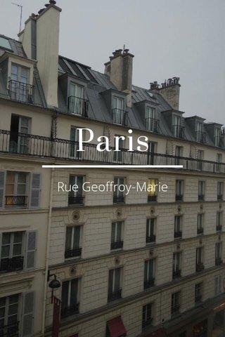 Paris Rue Geoffroy-Marie
