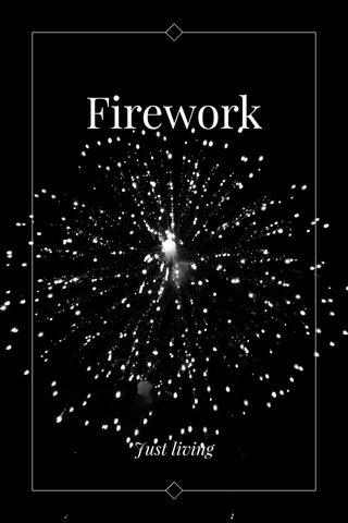 Firework Just living