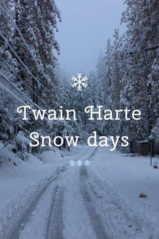 Twain Harte Snow days ❄️️❄️️❄️️