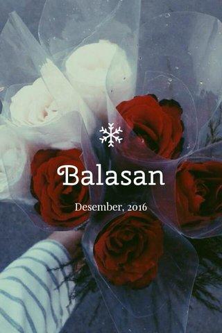 Balasan Desember, 2016
