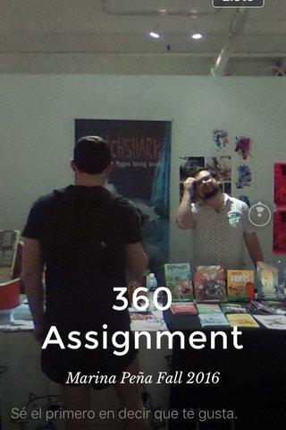 360 Assignment Marina Peña Fall 2016